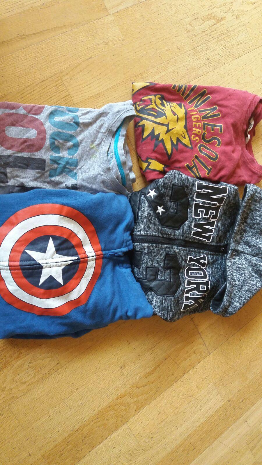 dos jerseis i dos samarretes de 10 anys